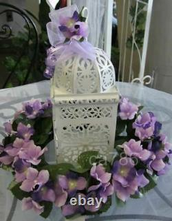 10 Lot White Moroccan Scrollwork Lantern Candle Holder Wedding Table Centerpiece
