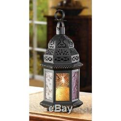 10 Magic Rainbow Moroccan Candle Holder Lanterns Wedding Table Centerpieces NEW