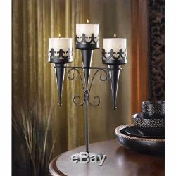 10 Medieval Gothic Triple Candle Candelabras Stand Wedding Table Centerpieces