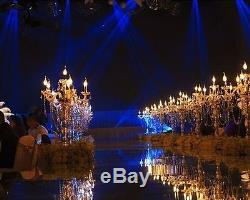 10 Pieces Tall Wedding Gold Acrylic Table Centerpiece Candlestick Lead Stand