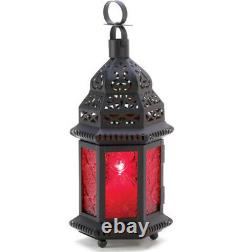 10 Red Moroccan 10 Tall Candle Holder Lantern Lamp Wedding Table Centerpieces