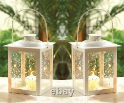 10 Shabby White 8 Candle Holder Cheap Lantern Light Wedding Table Centerpieces