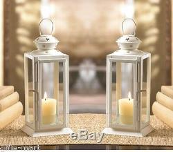 10 WHITE 8 tall Candle holder Lantern Lamp terrace wedding table centerpieces