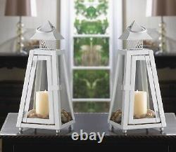 10 White Lighthouse 11 Candle Holder Lantern Lamps Wedding Table Centerpieces