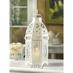 10 White Moroccan 12 shabby Candle holder lantern wedding table centerpiece