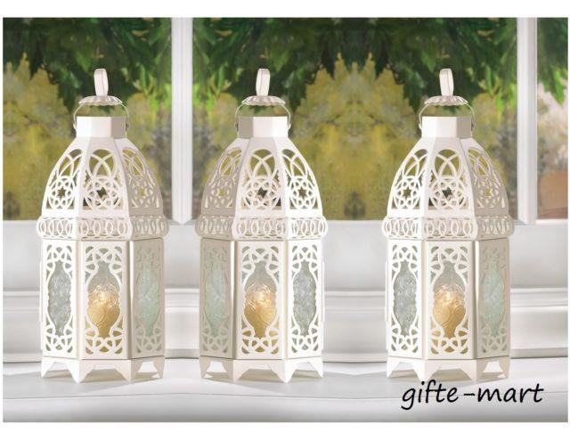 10 Lot White Moroccan 12 Shabby Candle Holder Lantern Wedding Table Centerpiece