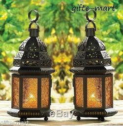 10 lot amber Yellow 12 Moroccan Candle holder Lantern wedding table centerpiece