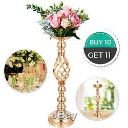 10pc Gold Metal Wedding Flower Table Candle Holder Vase Centerpiece Stand 21