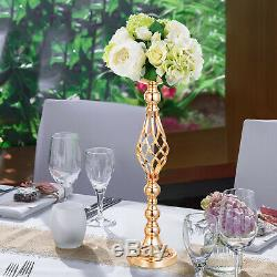10pc Metal Wedding Flower Table Decor Vase Centerpiece Stand Candle Holder 21 in