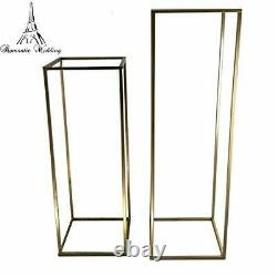 10pcs Different Size Gold Metal Flower Stand Table Centerpieces 31 inches tall