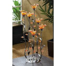 12 Amber Calla Lily Candle Holder Wedding Table Centerpieces 24 1/4 Tall12793