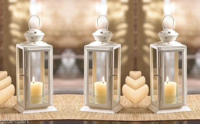 12 White 8 Tall Candle Holder Lantern Lamp Terrace Wedding Table Centerpiece