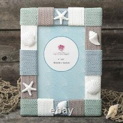 15 Beach Themed Table Centerpiece Photo Frame In Knitted Style Wedding Favors