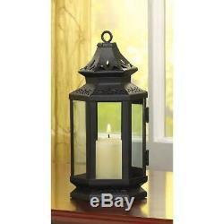 15 Small 8 Black Stagecoach Lantern Candle Holder Wedding Table Centerpieces