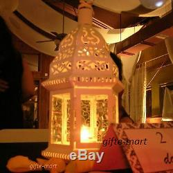 15 lot White Moroccan shabby 12 Candle holder lantern wedding table centerpiece