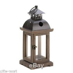 15 rustic brown wood metal 12 Candle holder Lantern wedding table centerpieces