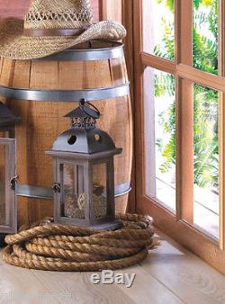 16 rustic brown wood metal 12 Candle holder Lantern wedding table centerpieces
