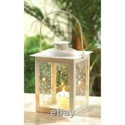 20 Shabby White 8 Candle Holder Cheap Lantern Light Wedding Table Centerpieces