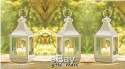 20 lot small white 7 Candle holder Lantern Lamp light wedding table centerpiece