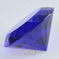 200mm Huge Blue Crystal Diamond Paperweight Wedding Centerpieces Gifts
