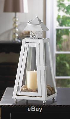 24 lot white 11 tall Candle holder lighthouse lantern wedding table centerpiece