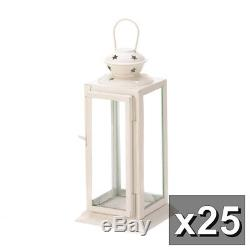 25 Soft White Starlight Candle Lantern Table WHOLESALE WEDDING LOT Centerpieces