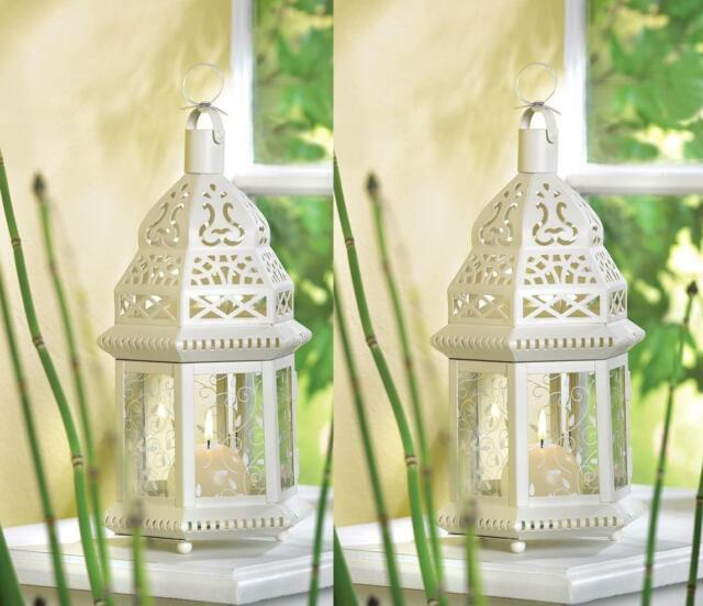25 White Shabby Wedding Moroccan Table Decor Centerpieces Candle Holder Lanterns