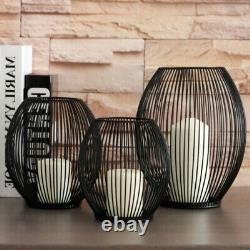 2Pcs Wire Candle Holders Candlesticks for Dining Room Wedding Table Centerpieces