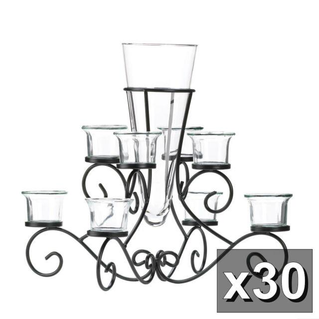 30 Scrollwork Candelabra Candle Stand With Vase Table Wedding Centerpiece10015370