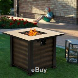 30 Square Fire Pit Table Outdoor Centerpiece Fireplace Propane Gas Patio Garden