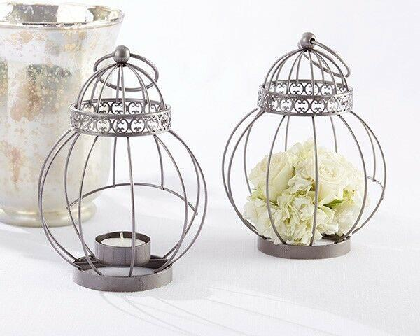 30 Vintage Bird Cage Candle Lantern Wedding Bridal Shower Table Party Favors