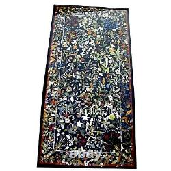 36 x 72 Inches Marble Dining Table Top with Mosaic Art Stone Floor Center Piece