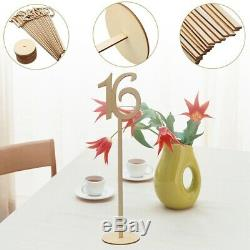 3X(20Pcs Number 1 20 Card Holder Seat Card Number Plate Wooden Table L6Q8)