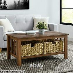 40 Coffee Table Centerpiece Accent Living Room Furniture Mission Style Rustic