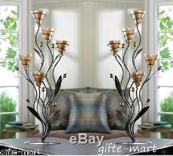 5 LARGE 24 tall gold Candelabra floral Candle holder wedding table centerpiece