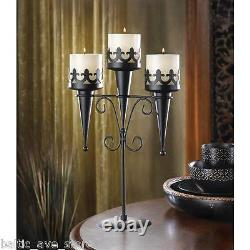 5 Medieval Gothic Black Wedding Banquet Table Event Centerpieces Candle Stands
