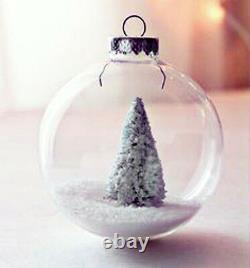 50 8cm glass memory bauble xmas table tree wedding table centrepiece craft ball