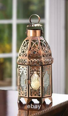6 Copper Moroccan Candle Holder Lanterns Wedding Table Decoration Centerpieces