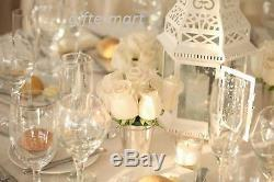 6 large 15 tall White Moroccan shabby Candle holder lantern table centerpiece