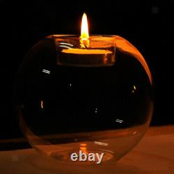 6x Clear Crystal Glass Ball Tealight Candle Holder Table Centerpieces Decor 8cm