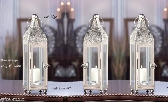 8 Moroccan Silver 12 Tall Candle Holder Lantern Lamp Wedding Table Centerpiece