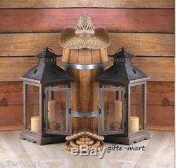 8 wood metal 18 tall Candle holder Lantern wedding floral table centerpiece