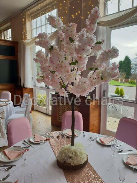 8 X 4ft Blossom Tree Table Centrepieces Pink For Hire For £250
