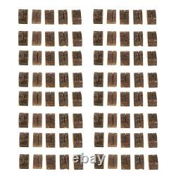 80pcs Wooden Name Cards Stand Place Card Memo Menu Card Holder Wedding Table
