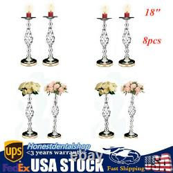 8pc Metal Wedding Flower Table Decor Vase Centerpiece Stand Candle Holder 18