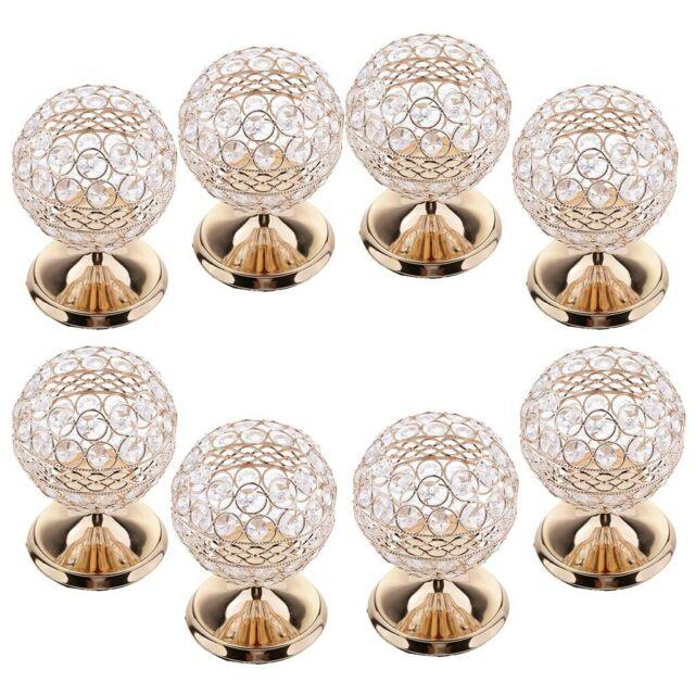 8x Crystal Tealight Candle Holder For Coffee Cafe Table Wedding Centerpiece