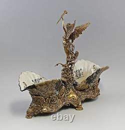 9937329-dss Ostentatious Table Centerpiece with Goddess of Ceramics Bronze 18