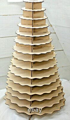 A376 FERRERO ROCHER SCOLOP STAND 15 TIER donut doughnut wall Wedding party table