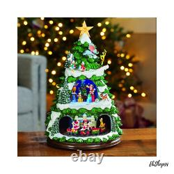 Animated Christmas Table Centerpieces Holiday Tree with Light n Music Decoration