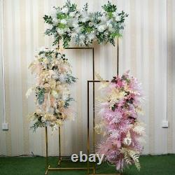 Artificial Flower Arch Swag Table Runners Centerpiece Row Backdrop Floral Decors